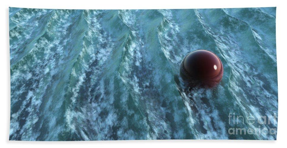 Waves Bath Towel featuring the digital art Turbulence by Richard Rizzo