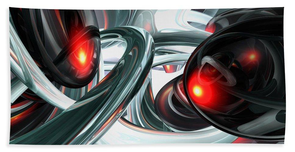 3d Bath Sheet featuring the digital art Turmoil Abstract by Alexander Butler