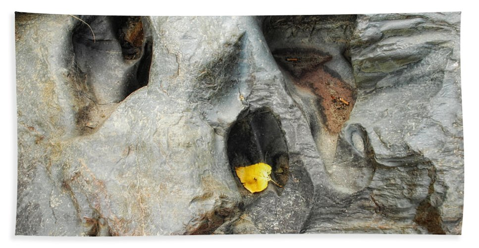 Rock Hand Towel featuring the photograph Turned To Stone by Donna Blackhall