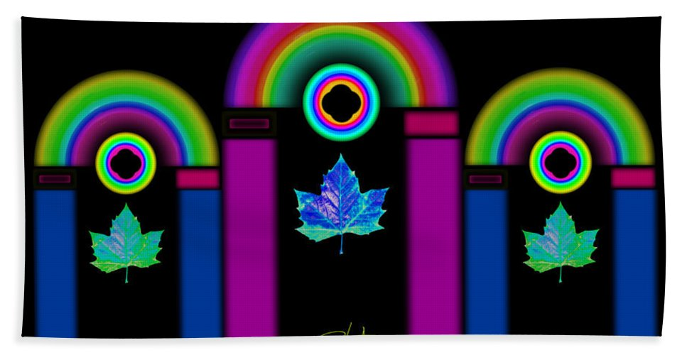 Classical Bath Towel featuring the painting Tuscan Neon by Charles Stuart