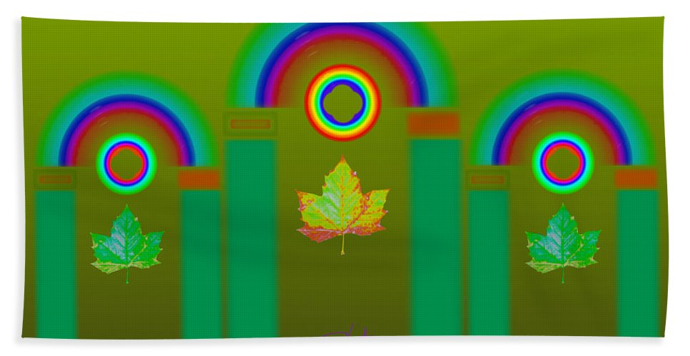 Classical Hand Towel featuring the digital art Tuscan Olive by Charles Stuart
