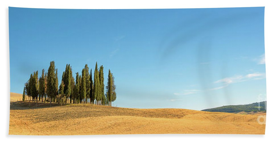 Tuscany Hand Towel featuring the photograph Tuscan Panorama by Delphimages Photo Creations