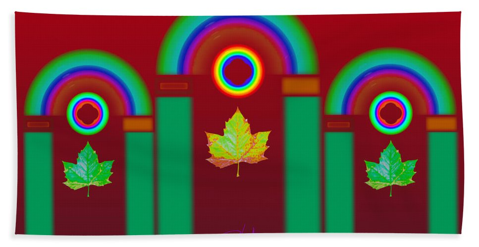 Classical Bath Towel featuring the digital art Tuscan Red by Charles Stuart