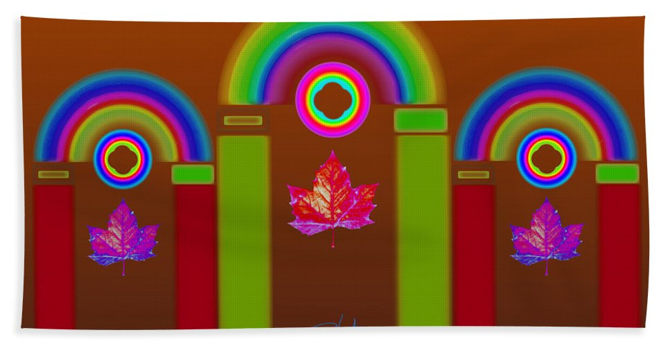 Classical Bath Towel featuring the painting Tuscon Autumn by Charles Stuart