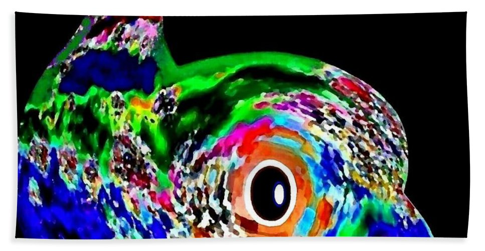Abstract Hand Towel featuring the digital art Tweeter by Will Borden