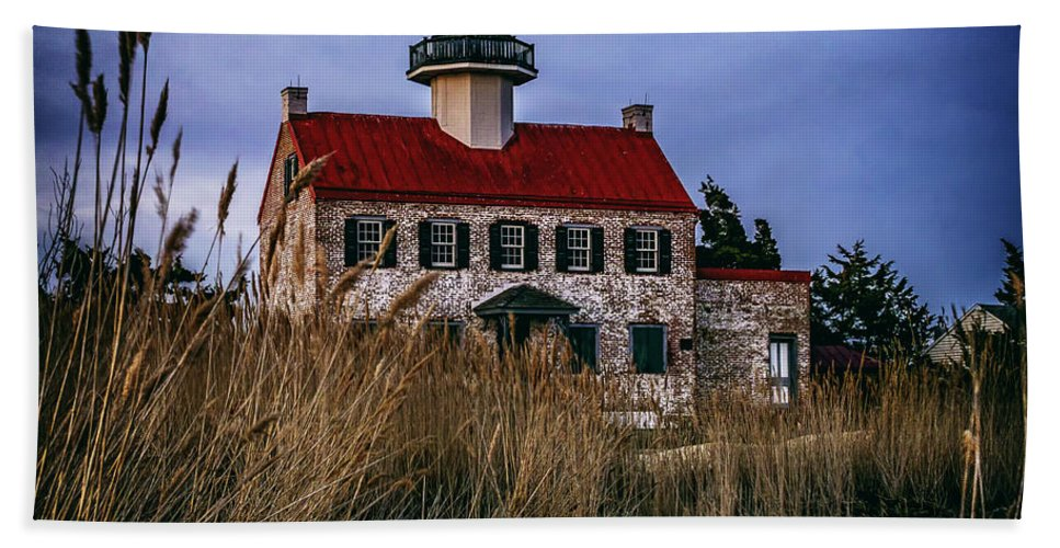 East Point Hand Towel featuring the photograph Twilight At East Point by Nick Zelinsky