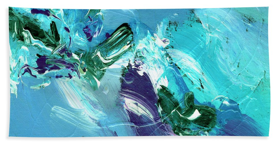 Abstract Bath Sheet featuring the painting Twilight Big Sur by Dominic Piperata