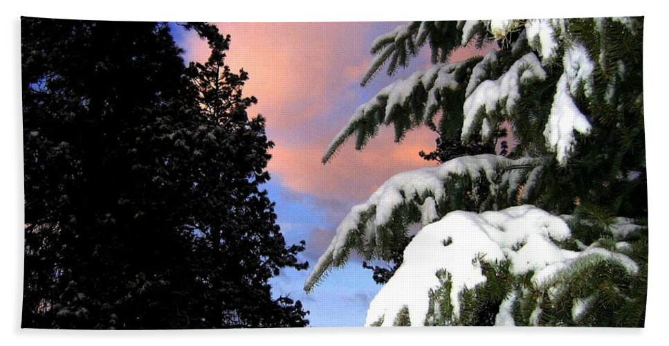 Sunset Hand Towel featuring the photograph Twilight Hour by Will Borden