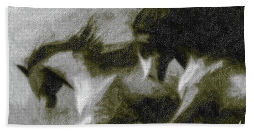 Horse Hand Towel featuring the photograph Twilight In Mescalero by Terry Fiala