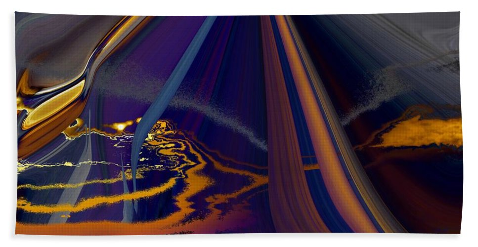 Abstract Bath Sheet featuring the photograph Twilight Journey by Tim Allen