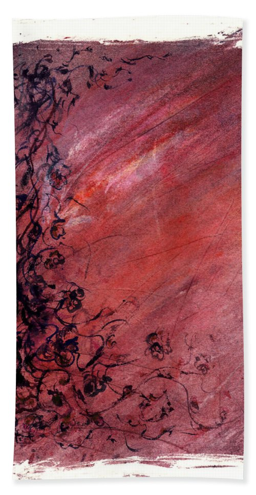 Floral Hand Towel featuring the painting Twilight Rose by Rachel Christine Nowicki