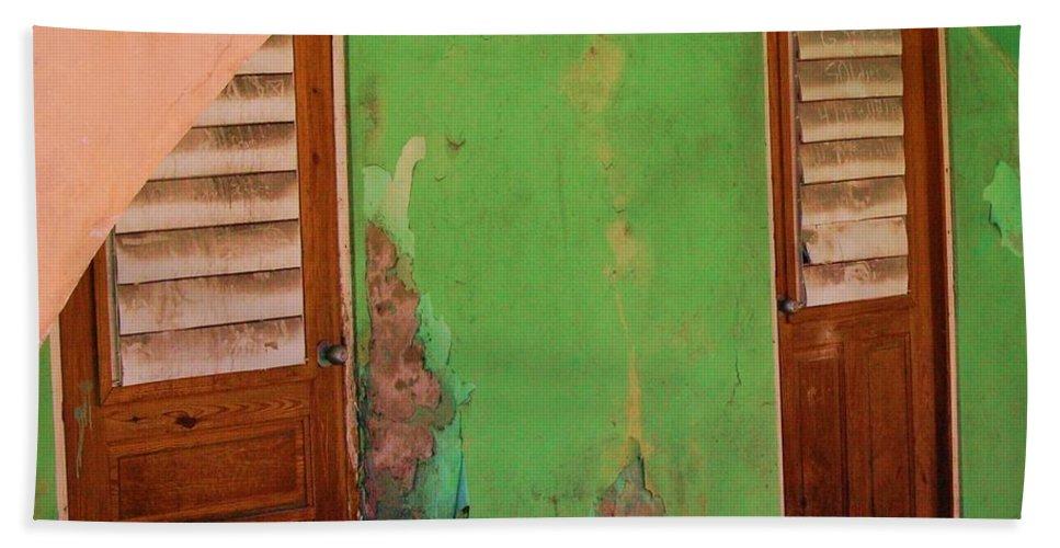 Doors Hand Towel featuring the photograph Twin Doors by Debbi Granruth