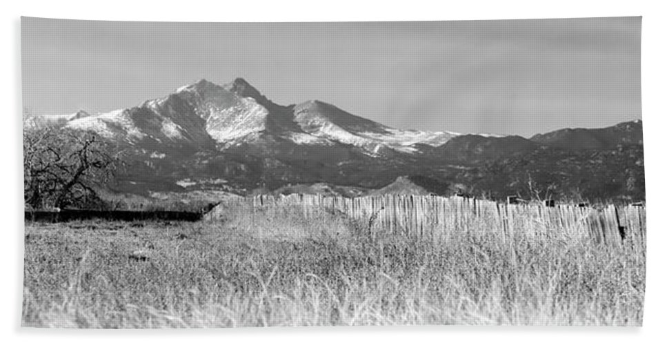 Black Bath Sheet featuring the photograph Twin Peaks Rustic Fence by James BO Insogna