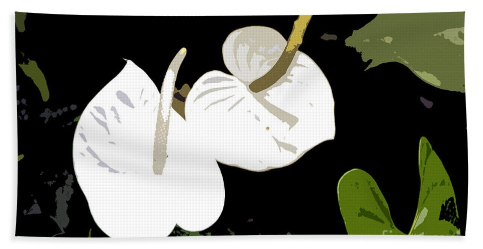 Flowers Bath Sheet featuring the photograph Twins Work Number 10 by David Lee Thompson