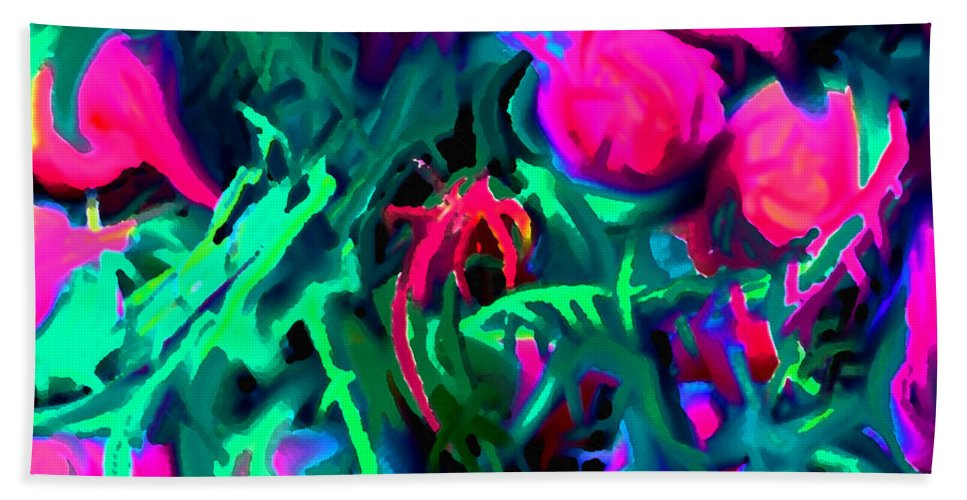 Abstract Bath Towel featuring the digital art Twisted by Ian MacDonald