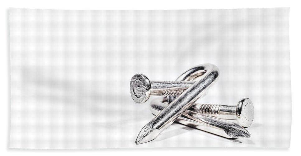Scott Norris Photography Bath Sheet featuring the photograph Twisted Nails by Scott Norris