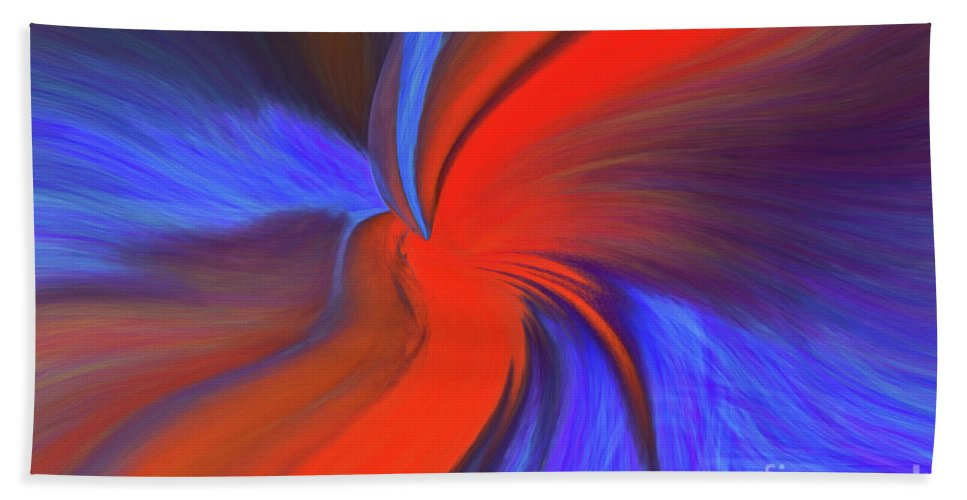 Abstract Bath Sheet featuring the photograph Twisted by Patti Schulze