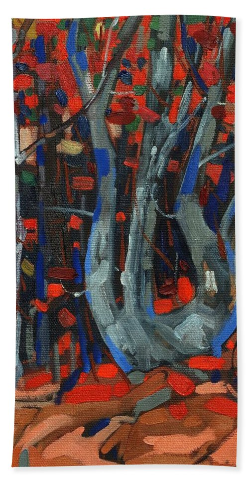 Killarney Bath Sheet featuring the painting Twisted by Phil Chadwick