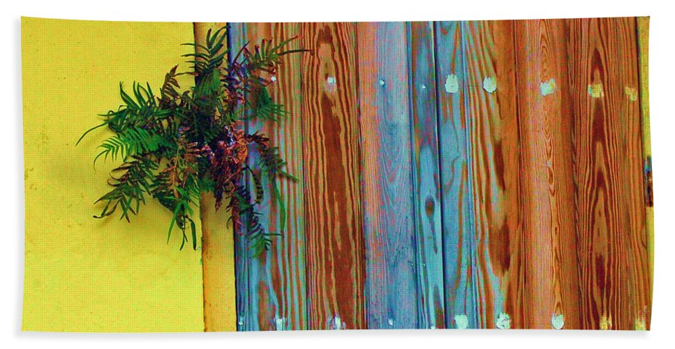Door Hand Towel featuring the photograph Twisted Root by Debbi Granruth