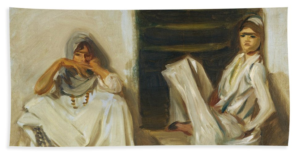 John Singer Sargent Hand Towel featuring the painting Two Arab Women by John Singer Sargent