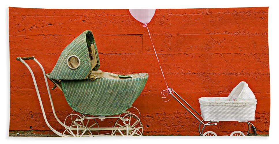 Baby Buggy Hand Towel featuring the photograph Two Baby Buggies by Garry Gay