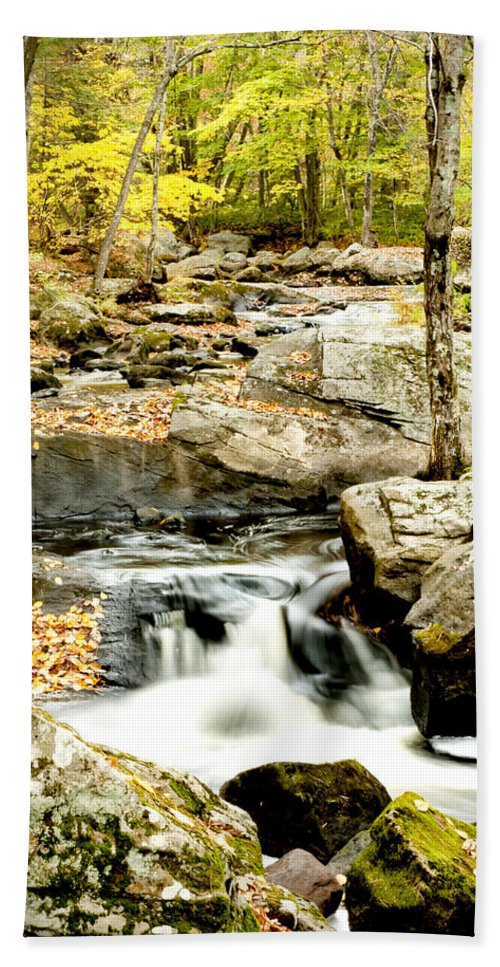 Woods Bath Sheet featuring the photograph Two Falls by Greg Fortier