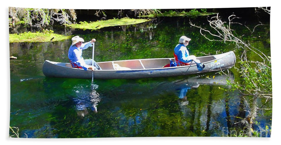 Canoe Bath Sheet featuring the photograph Two In A Canoe by David Lee Thompson