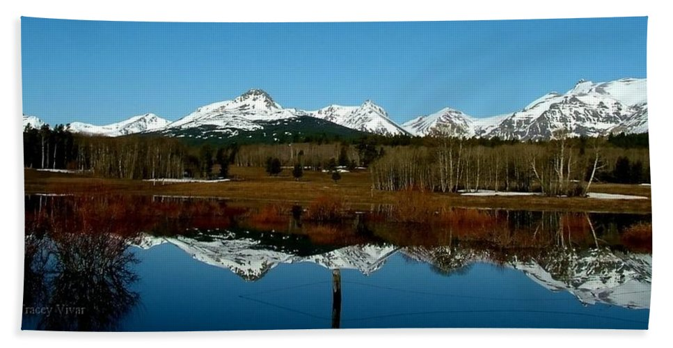 Fall Bath Sheet featuring the photograph Two Med River Reflection by Tracey Vivar