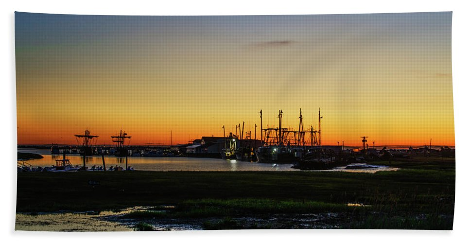 Two Bath Sheet featuring the photograph Two Mile Landing At Sunrise - Wildwood Crest New Jersey by Bill Cannon