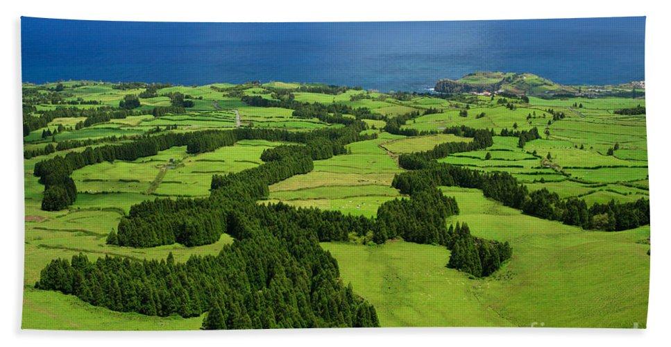 Landscape Hand Towel featuring the photograph Typical Azores Islands Landscape by Gaspar Avila