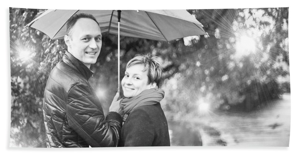 Engagement Hand Towel featuring the photograph Ula And Wojtek Engagement 7 by Alex Art and Photo