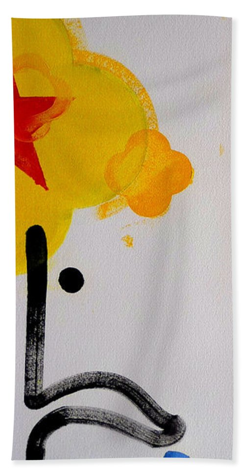 Drawing Bath Towel featuring the painting UN by Charles Stuart