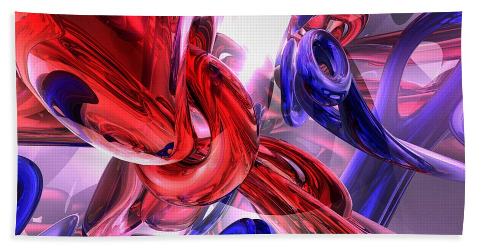 3d Hand Towel featuring the digital art Unchained Abstract by Alexander Butler