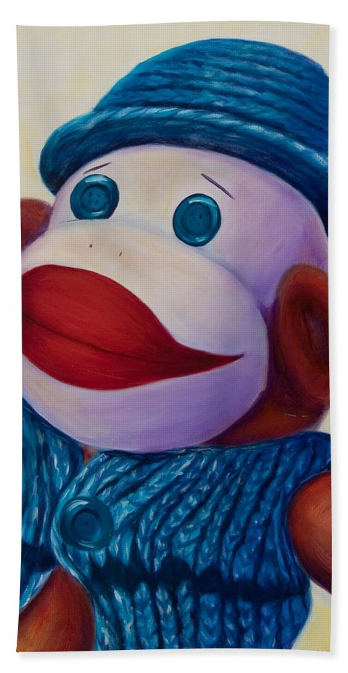 Children Bath Towel featuring the painting Uncle Frank by Shannon Grissom