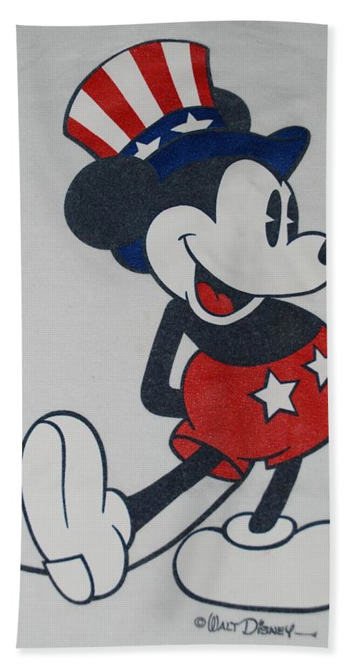 Disney Hand Towel featuring the photograph Uncle Mickey by Rob Hans