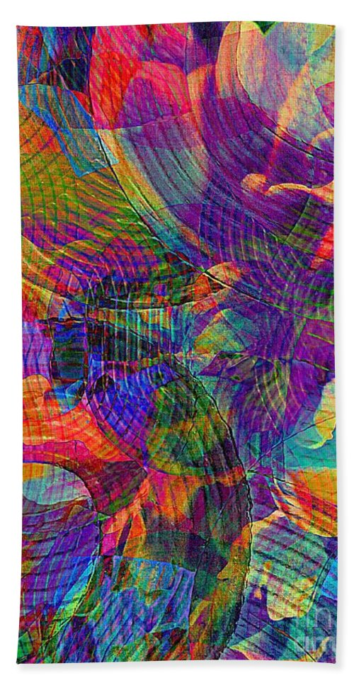 Abstract Acrylic Painting Bath Sheet featuring the photograph Uncommon Vibrations 2 by Trent Jackson