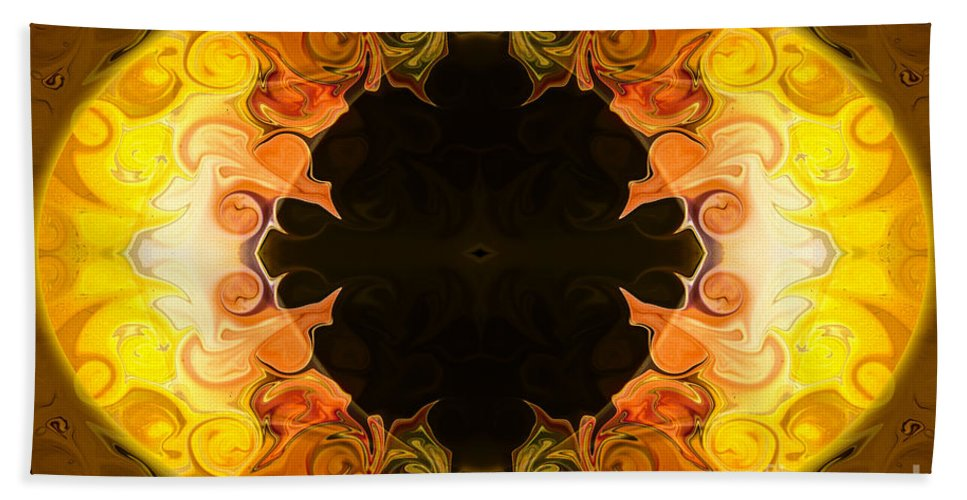 2x3 (4x6) Hand Towel featuring the painting Undecided Bliss Abstract Healing Artwork By Omaste Witkowski by Omaste Witkowski