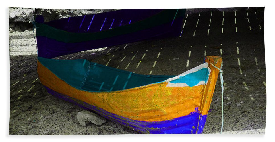 Boat Bath Sheet featuring the photograph Under The Boardwalk 2 by Charles Stuart