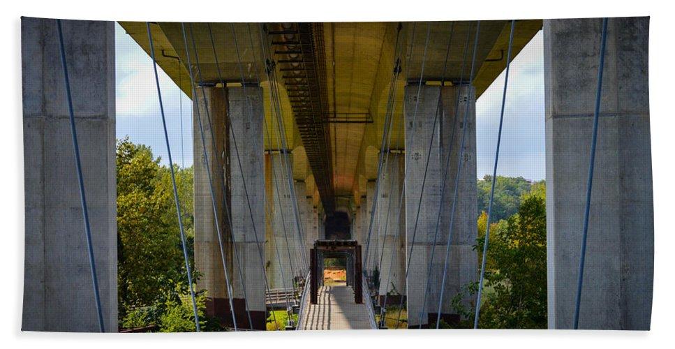 Richmond Bath Sheet featuring the photograph Under The Bridge by Aaron Dishner