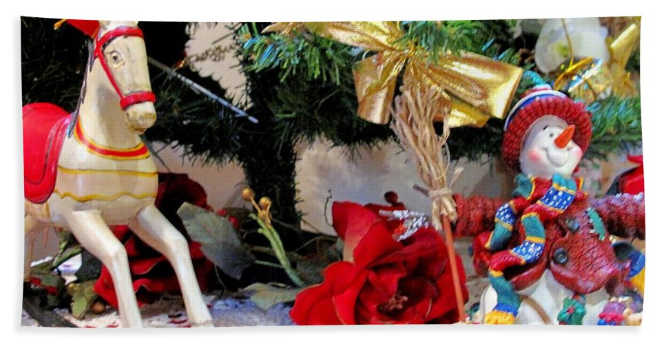 Christmas Hand Towel featuring the photograph Under The Christmas Tree by Ian MacDonald