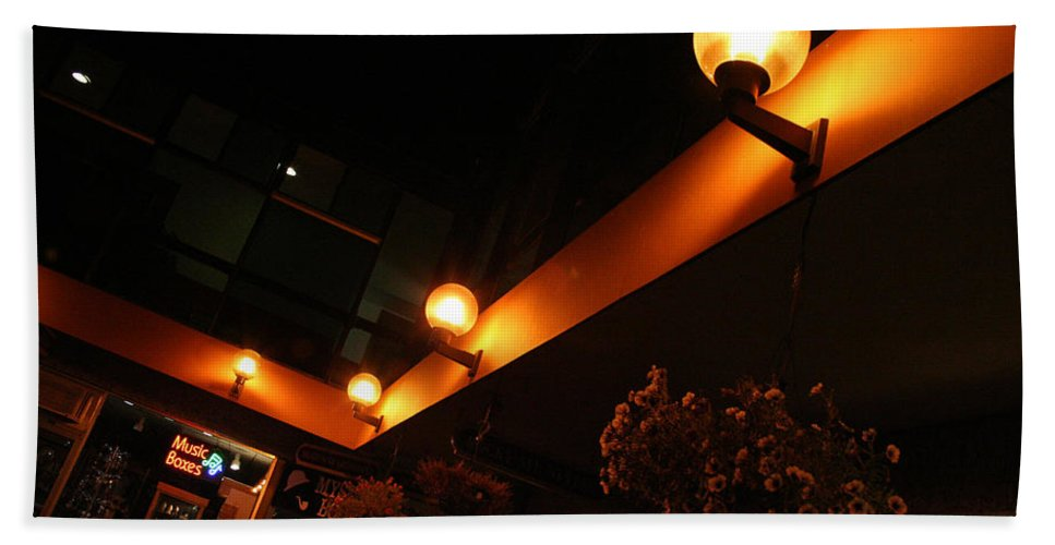 Storefront Hand Towel featuring the photograph Under The Lights Of Old Colorado City by Ric Bascobert