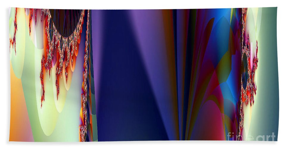Clay Bath Towel featuring the digital art Under The Rainbow by Clayton Bruster