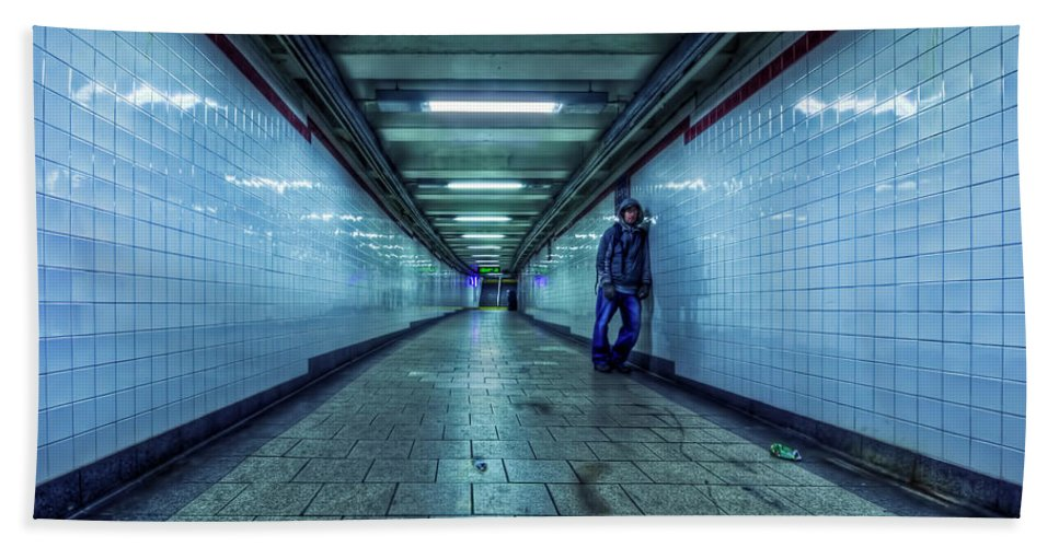Subway Bath Sheet featuring the photograph Underground Inhabitants by Evelina Kremsdorf