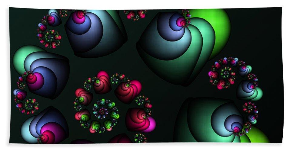 Fractal Hand Towel featuring the digital art Underground Universe by Jutta Maria Pusl