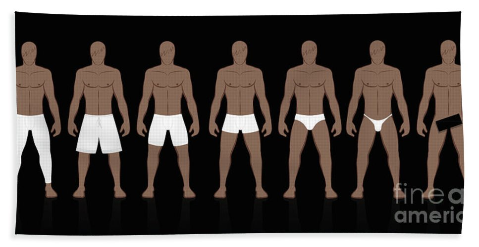 Underpants Hand Towel featuring the digital art Underpants Male Collection by Peter Hermes Furian