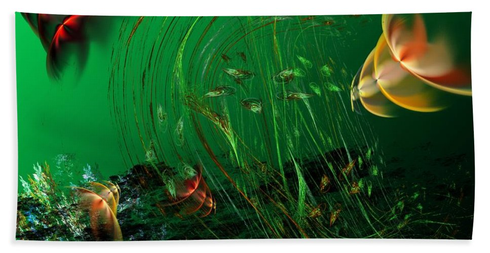 Fantasy Bath Towel featuring the digital art Underwater Wonderland Diving The Reef Series. by David Lane