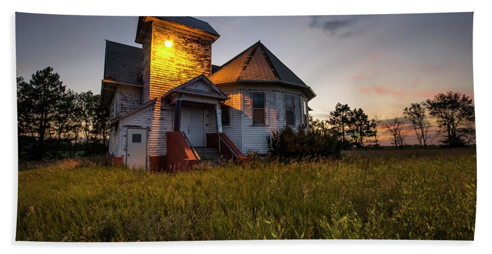 Union Church Hand Towel featuring the photograph Union by Aaron J Groen