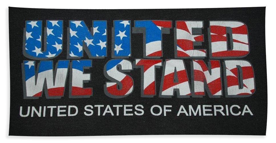 Americana Hand Towel featuring the photograph United We Stand by Rob Hans