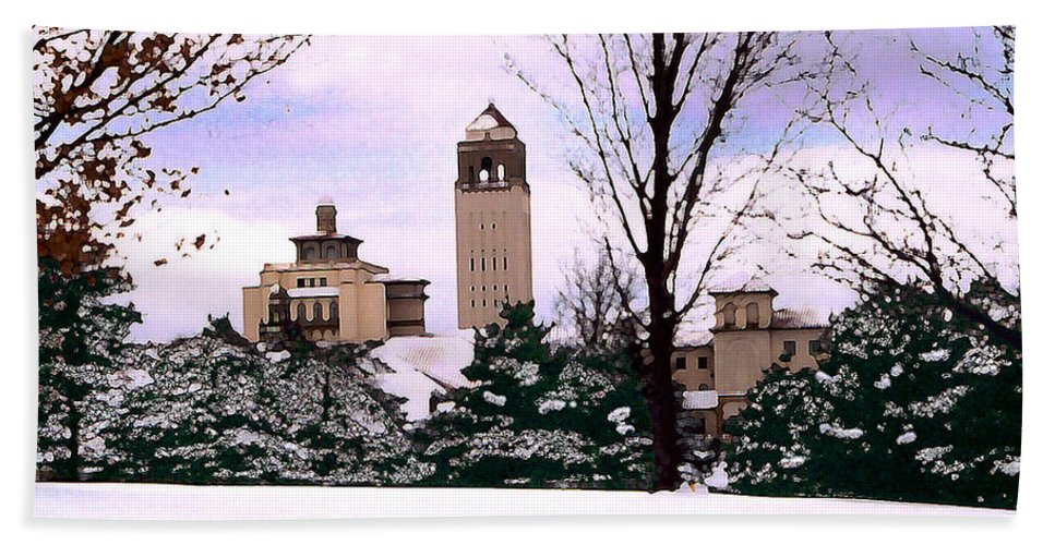 Landscape Bath Towel featuring the photograph Unity Village by Steve Karol