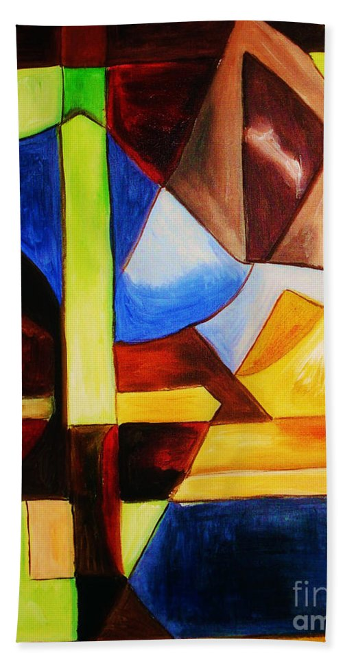 Acrylic Painting Bath Sheet featuring the painting Unity by Yael VanGruber